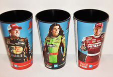 "Set of 3 Nascar Promotional 7 1/2"" Cups Danica Patrick Tony Stewart Ryan Newman"
