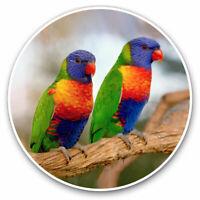 2 x Vinyl Stickers 7.5cm - Rainbow Lorikeet Tropical Parrot Bird Cool Gift #1620
