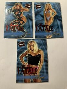 2001 FLEER LOT Of 3 CARDS- WWF / WWE  RAW IS WAR FEMME FATALE CARDS  ⭐️ See Pics