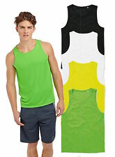 ACTIVE-DRY Breathable Polyester Sports Tank Top Vest Singlet Sleeveless Tshirt