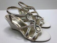 NEW AK Anne Klein iflex Women's Heels SIze 8 M PARISA Ivory Gold Slingback