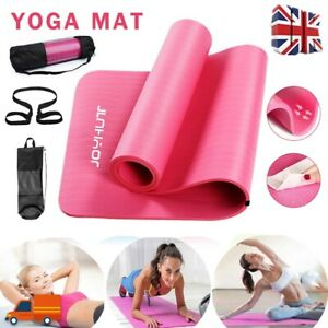 Yoga Mat Thick 15MM Gym Non Slip Exercise Pilates Workout +Carry Bag +Soft Strap