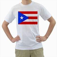 New Puerto Rico Flag White T-shirt Size S-3XL Free Shipping