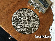 Sticker Stone of the Five Eras Piedra del Sol Aztec sculpture For Bass or Guitar