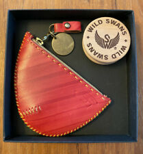 Red Ear Wild Swans For Paul Smith x oki-ni Coin Wallet In Painted Leather