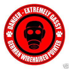 Danger Gassy German Wirehaired Pointer Fart Dog Sticker