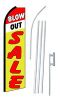 Complete 15' Blowout Sale Kit Swooper Feather Flutter Banner Sign Flag
