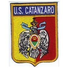 [Patch] US CATANZARO CALCIO cm 7 x 9 toppa ricamata ricamo termoadesiva -216