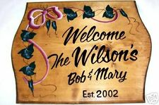 PERSONALIZED Welcome SIGN w/FamilyNAMEHomeWood Plaque#1