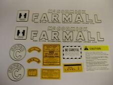 IHC Farmall Model Super C Tractor Decal Set - NEW - FREE SHIPPING