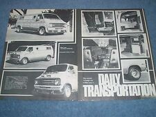 "1975 Dodge Tradesman Vintage Custom Van Article ""Daily Transportation"""