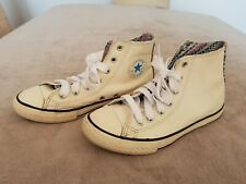 Converse White leather All Star Chuck Taylor Hi Tops - Size UK 3 EUR 35.5