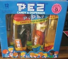 12 PEZ CANDY & DISPENSERS OF STAR WARS (STORE DISPLAY UNOPENED) NEW IN PKG