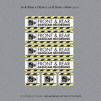 7 x Dash Cam Recording Stickers CCTV In Car Video Camera Decal Sticker - SKU3116