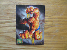 1995 FLEER MARVEL MASTERPIECES THING CARD SIGNED DAVE DEVRIES ART, WITH POA