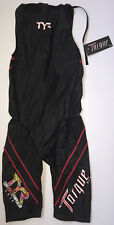 Tyr Men's Small Black Torque Pro Zipper Back Shortjohn Swimskin Kona World New