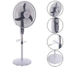 "20""Adjustable Oscillating Pedestal Fan Stand Floor 3 Speed Manual Control"
