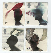 GB Stamps SG2216-2219, Fashion Hats 2001. Multicoloured. Used Set