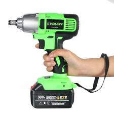 98VF 320NM 12000mAh Cordless Electric Impact Wrench Drill Screwdriver Gun BO US