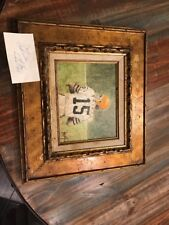 Leon Wolf Oil Painting Mike Phipps Cleveland Browns Vintage Deceased Framed
