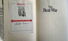RICHARD NIXON SIGNED BOOKPLATE BY NIXON THE REAL WAR AFFIXED TO BOOK COA