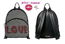 Betsey Johnson LOVE Studly Large Women's studded backpack in Black, NWT
