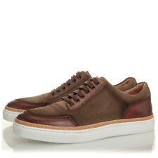 Kenneth Cole New York Prem-Ium Brown Olive Low Top Sneaker - Mens 7 M