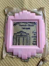 Vintage NOS mid century Pink Plastic Switch plate Light switch Cover Wallpaper