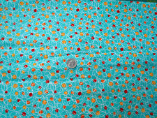 Monkeys Balls & Scribbles on Aqua Cotton Flannel Fabric