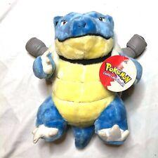 """New Vintage 1999 Pokemon BLASTOISE Pokemon Plush 14"""" Toy 1999 Card Tag Nintendo"""