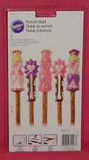 Princess Chocolate Candy Pretzel Mold,Wilton,Clear Plastic, 2115-2123,Girl