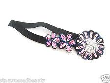 Plata Y Rosa Vintage Mujer Flapper Lentejuelas Accesorio Para Pelo Diadema