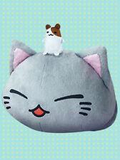 Nemuneko 12'' Gray with Mouse on Head Sleeping Cat Plush Anime Manga NEW
