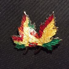 STERLING Enamel JWH WILLOUGHBY Autumn Leaves Pin Brooch