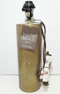 Nate Berkus Rivet Lamp Base Industrial Steampunk 3 Way Brass