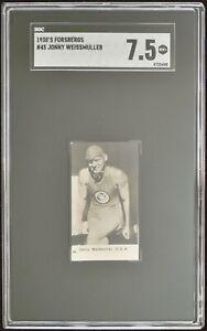 1931-32 Swedish Forsberg International set #45 Johnny Weissmuller USA SGC 7.5