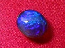 Gorgeous Purple-Blue Colour Pattern Natural Solid Black Crystal opal 1.19carat.