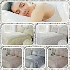Sleepdown Foil Printed Velvet Paisley,  Marble Glitter Jacquard Luxury Duvet Set