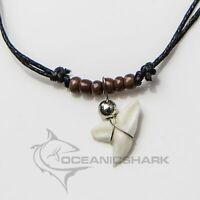 Blue shark tooth necklace Australian souvenir gift charm christmas father boy c4