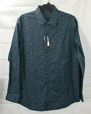 PERRY ELLIS big & tall mens Dark Sapphire  l/s button shirt size 3X NWT