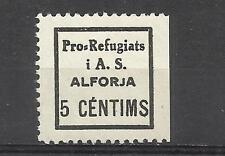 9097-SELLO LOCAL GUERRA CIVIL ESPAÑOLA REPUBLICANO 1937 ALFORJA TARRAGONA  AYUDA