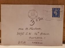 1951 Cover - Liverpool to 1495 S.W. 14th Ave. Portland, OR 2 1/2 Pence Revenue