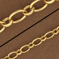 14kt Gold Filled Oval Chain. Gold Filled Link Chain. Gold Chain/Foot GF813