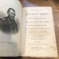 THE HISTORY OF THE CIVIL WAR IN AMERICA BY JOHN S.C. ABBOTT VOLUME 2 BOOK 1866