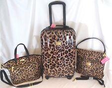 Victorias Secret Supermodel LEOPARD Luggage SET Wheelie Suitcase Duffle Bag NWT