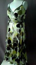 Sz 16 Monsoon 100% Silk Multicoloured Slinkly Occasion Wedding Guest Event Dress