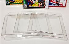 10 Box Protectors For NINTENDO 3DS  NTSC Only Clear Cases Sleeves Display Boxes