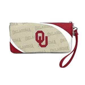 Oklahoma Sooners Curve Zip Organizer Ladies Wallet NCAA
