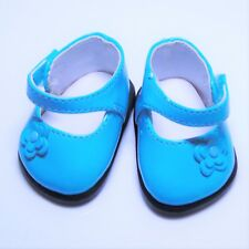 American Girl Bitty Baby Beautiful Blooms BLUE PATENT LEATHER SHOES Flowers GUC!