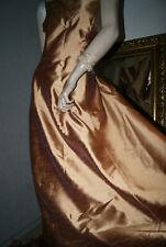 Langes GOLD - Glanz KLEID Abendkleid elegant apart und chic edel neuwertig 40